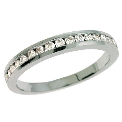 Channel Set Diamond Band  # D 295WG - Zhaveri Jewelers