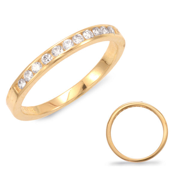 Channel Set Diamond Band  # D 337YG - Zhaveri Jewelers