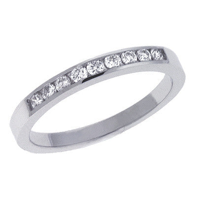 Ladie s Band White Gold  # D 339WG - Zhaveri Jewelers
