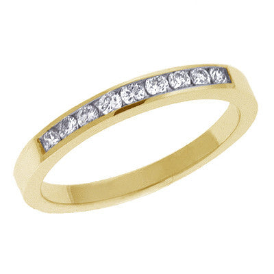 Ladie s Diamond Band  # D 339YG - Zhaveri Jewelers