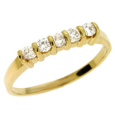 Channel Set Band  # D 350 - Zhaveri Jewelers