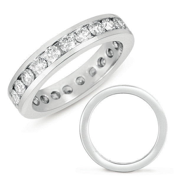 White Gold Eternity Channel  # D 421WG - Zhaveri Jewelers