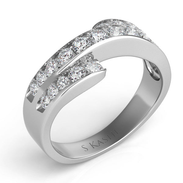 Channel Set Ring  # D 440WG - Zhaveri Jewelers