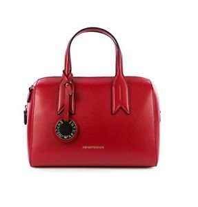 EMPRIO ARMANI  Bauletto Bag with Charm Red. #Y3A084/YH15A