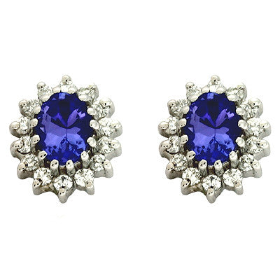 Tanzanite & Diamond Earring