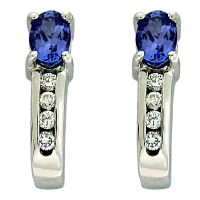 Tanzanite./ Diamond Earring