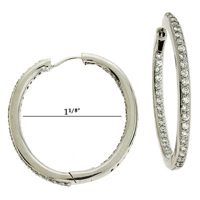Inner Set Oval Shaped Earring