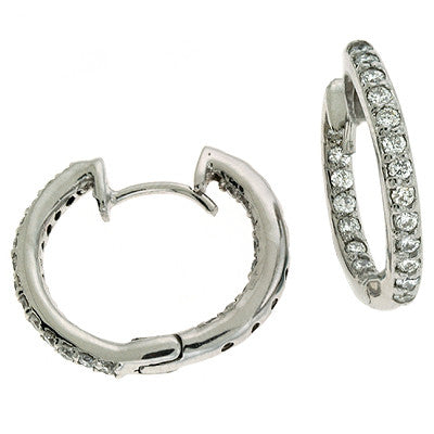 Diamond Hoop Earrings 19mm