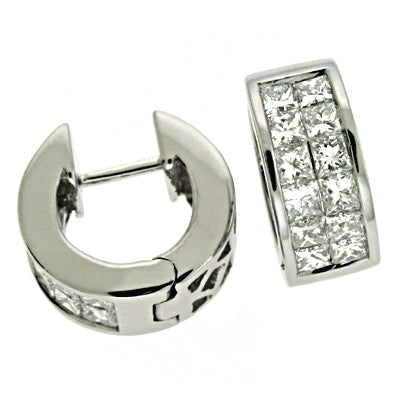 White Gold Diamond Huggie