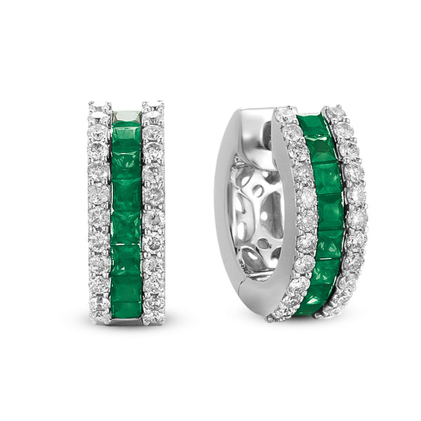 Emerald & Diamond Earring