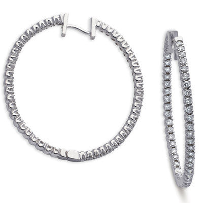 Diamond Oval Hoop Earring