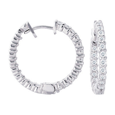 Diamond Hoop Earring 22mm