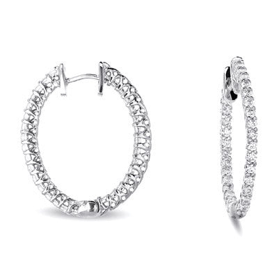 Oval Hoop Earring 26mm X 21mm