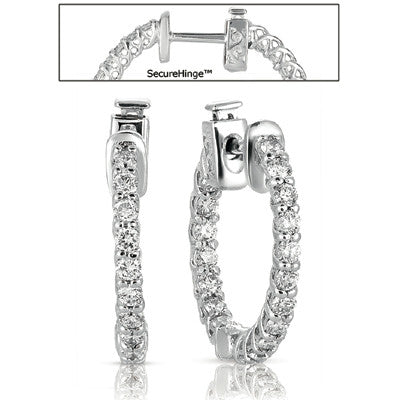 0.75  Securehinge Hoop Earring