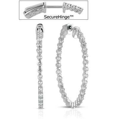 1.5  Securehinge Hoop Earring