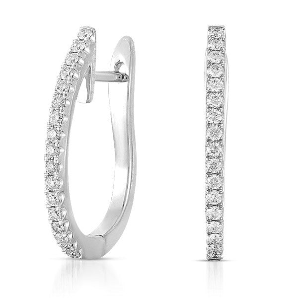 White Gold 20mm Hoop Earring