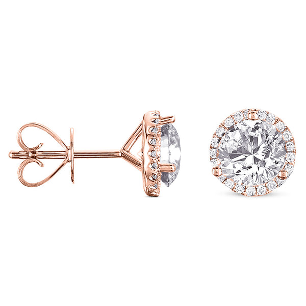 Four Prong Earring Setting For .66ct TW