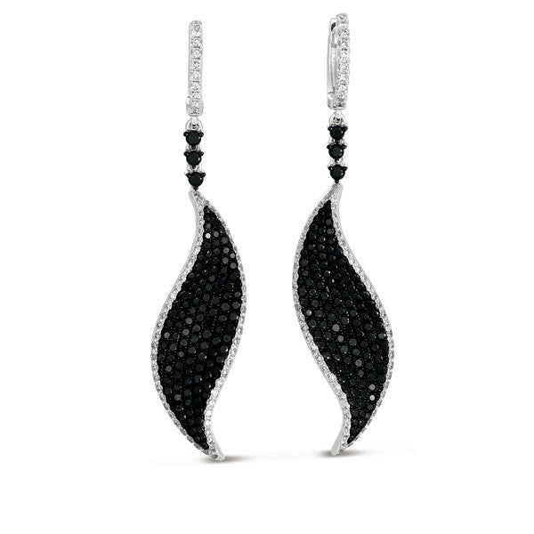 White & Black Diamond Earring