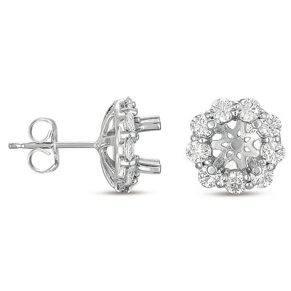 Halo Diamond Earring for 1/2ct round