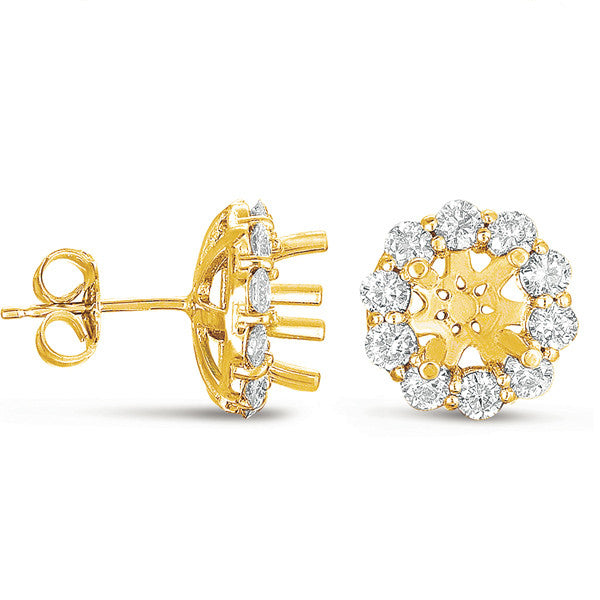 Halo Diamond Earring for 3/4ct round