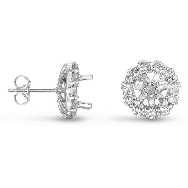 Halo Diamond Earring for 1ct round