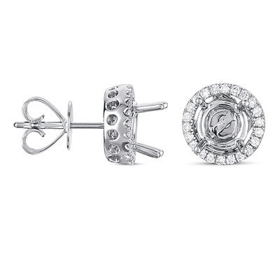 Four Prong Earring Jackets For 2.0ct TW