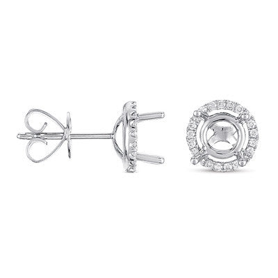 Four Prong Earring Setting For 2.0ct tw