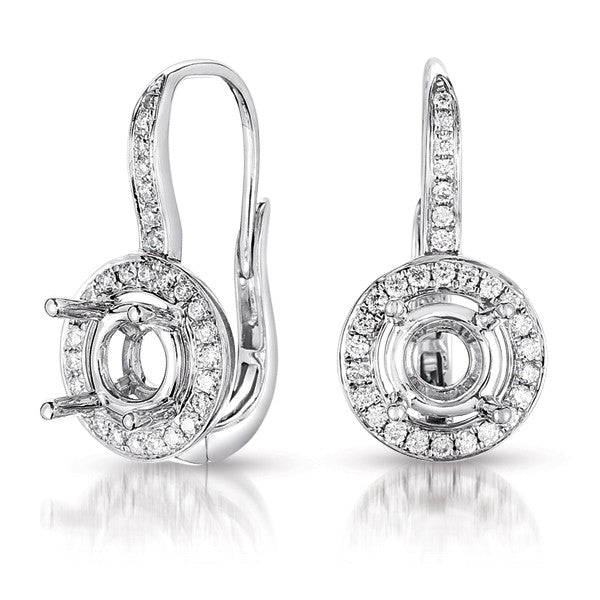 Hallo Earring Setting For 1.5ct tw