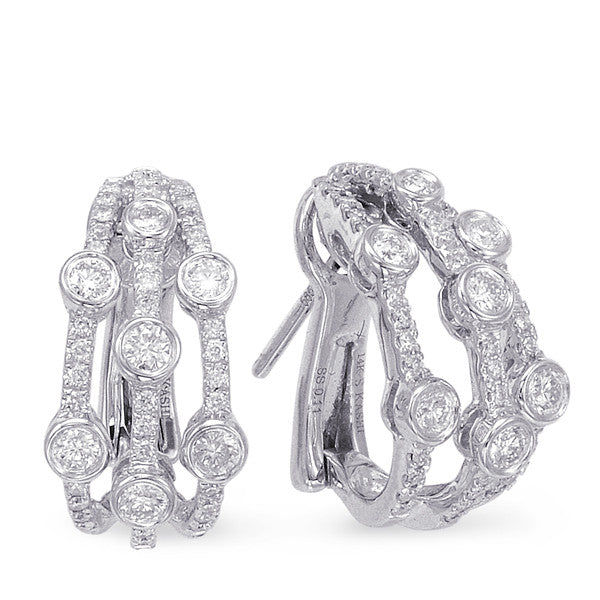 White Gold Diamond Earring