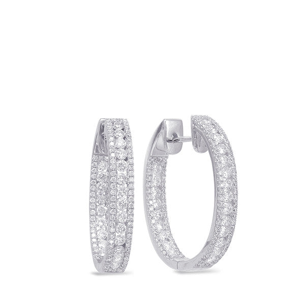 Diamond Hoop Oval Earring
