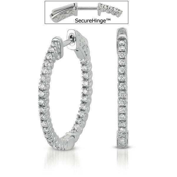 1.25 inch  Securehinge Hoop Earring
