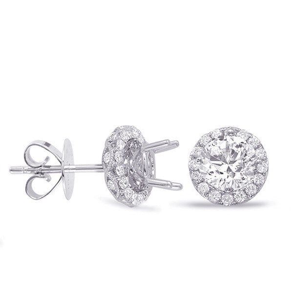 Halo Diamond Earring For 1.5ct  jacket