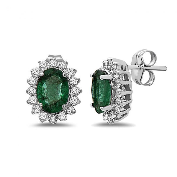 14K Emerald Earrings. #1163-E973WZ-E