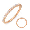 Yellow Gold Diamond Band  # EN7313-BYG