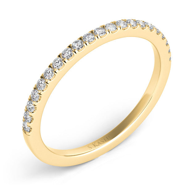 Yellow Gold Pave Matching Band