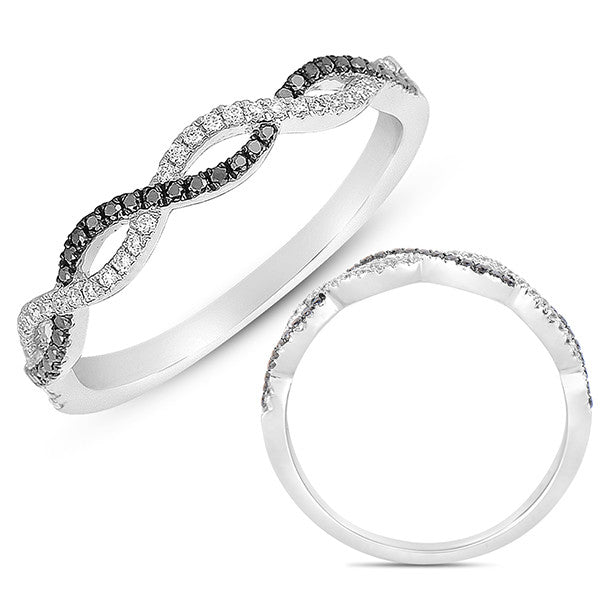White Gold & Black Diamond Matching Band