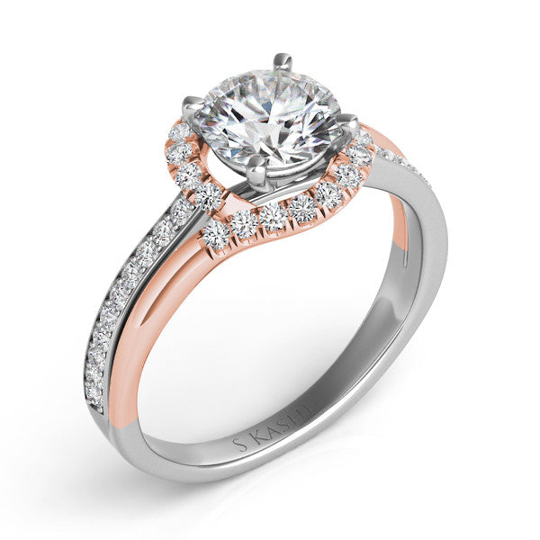 Palladium & Rose Gold Engagement Ring