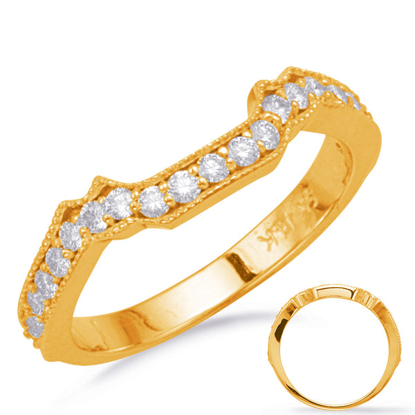 14K Yellow Gold Matching Diamond Band. 1090-EN7805-BYG