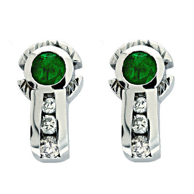 Emerald./ Diamond Wg Earring