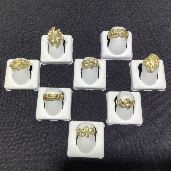 FANCY GOLD RINGS #22