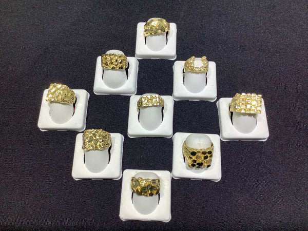 GOLD NUGGET RINGS #21