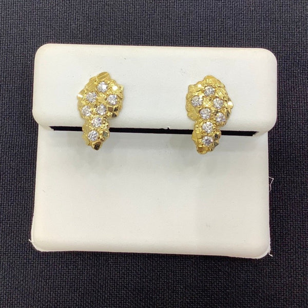 NUGGET CZ EARRINGS