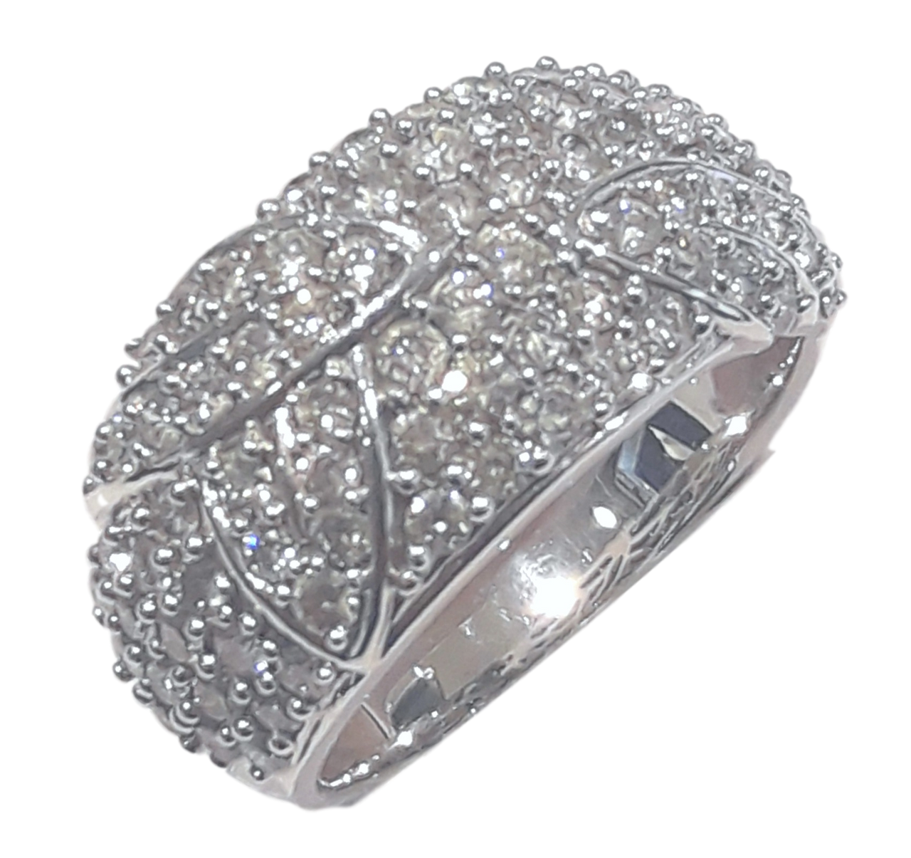 White Gold Diamond Ring #10117000