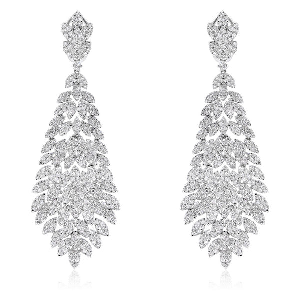 14K Diamond Earrings. #1099-EM095