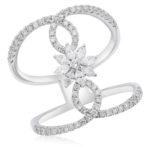 White Gold & Diamond Ring. #1099-R23018