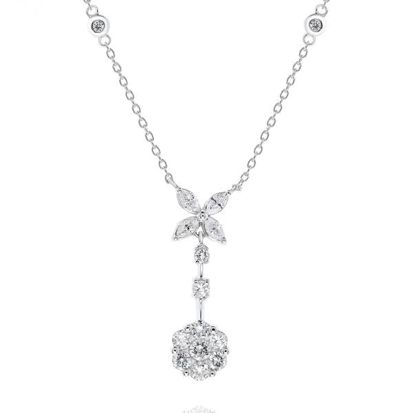 White Gold Diamond Necklace. #1099-AP11341