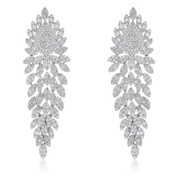 14K Diamond Earrings. #1099-EM101