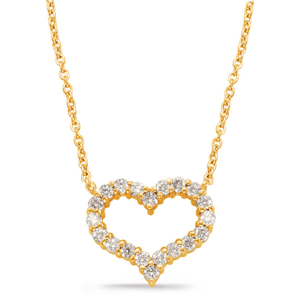 14K Yellow Gold Diamond Necklace.#1090-N1197YG