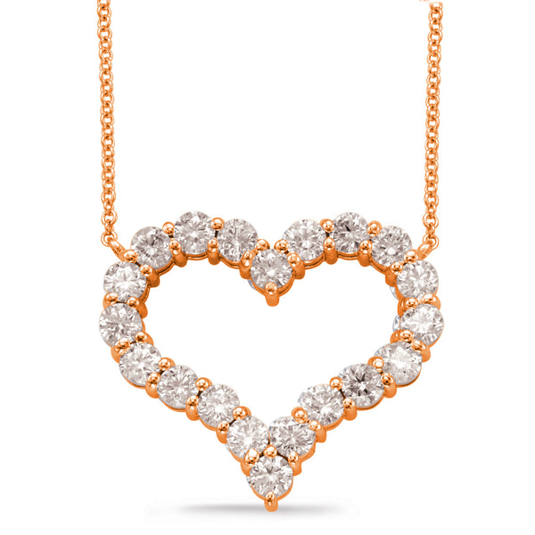 14K Rose Gold Diamond Necklace.#1090-N1200RG