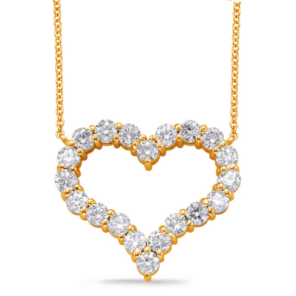 14K Yellow Gold Diamond Necklace. #1090-N1200YG